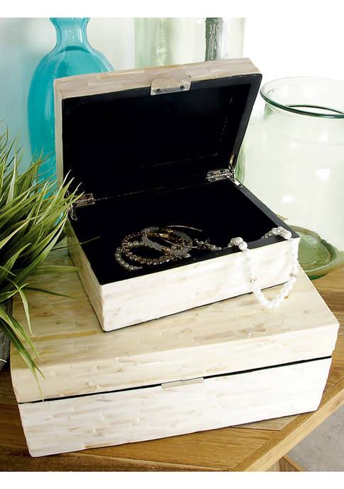 Monroe Lane Mother of Pearl Wooden Boxes