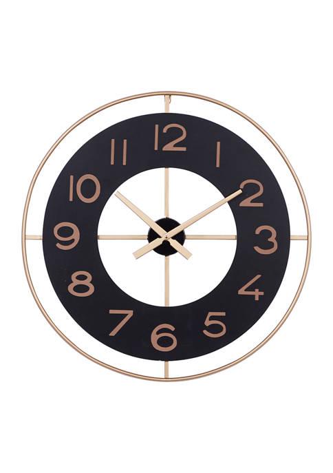 Monroe Lane Décor Wall Clock, Minimalist Clock With