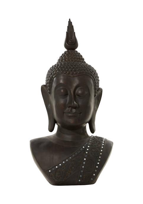 Monroe Lane Bohemian Polystone Buddha Sculpture