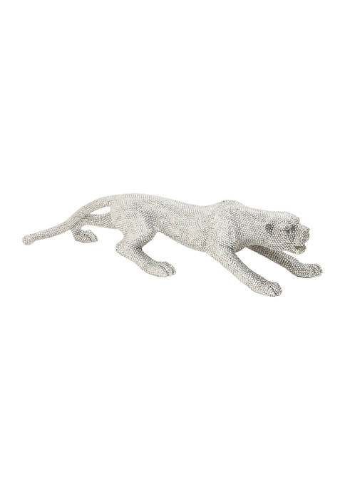 Polystone Leopard Sculpture