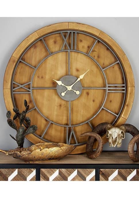 Wooden Metal Wall Clock