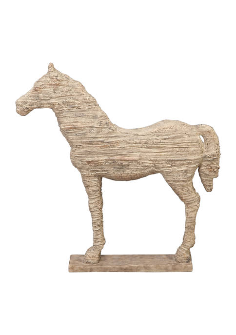 Monroe Lane Polystone Vintage Horse Sculpture