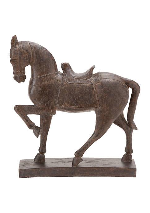 Monroe Lane Polystone Traditional Horse Sculpture
