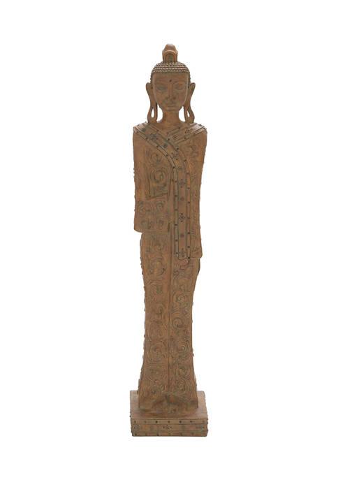 Monroe Lane Eclectic Polystone Buddha Sculpture