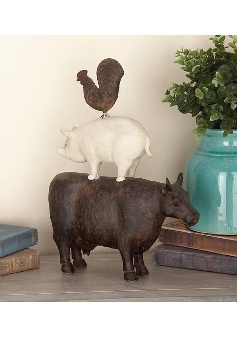 Monroe Lane Polystone Farm Animal Stack