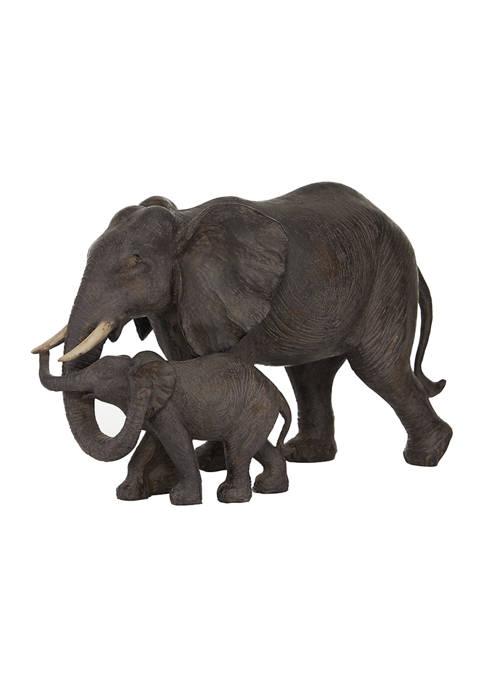 Monroe Lane Dark Eclectic Resin Elephant Sculpture