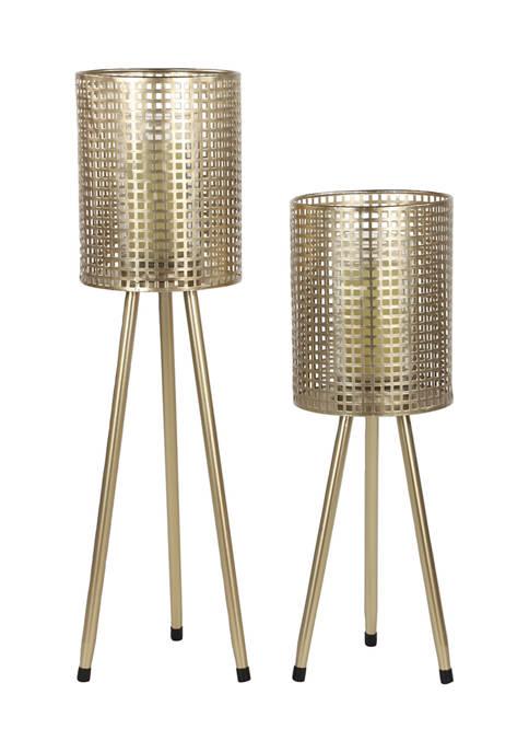 Monroe Lane Iron Industrial Lantern Set of 2
