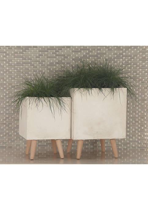 Fiber Clay Planters - Set of 2
