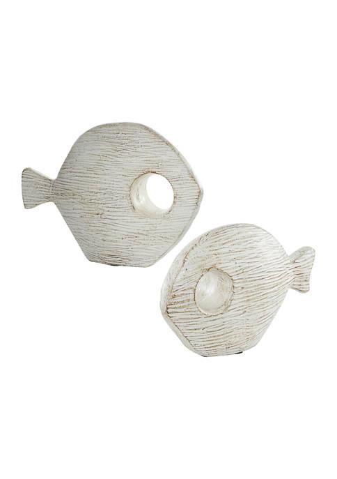 Monroe Lane Set of 2 Ceramic Coastal Fish
