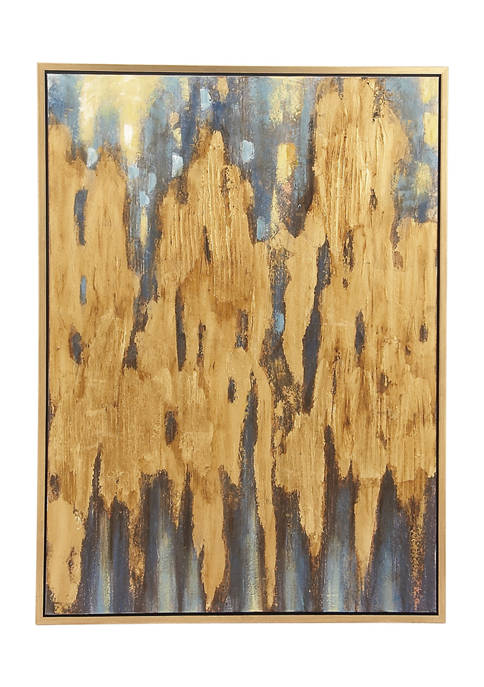 36 in x 47 in Oversized Brown Color Field Framed Canvas Art
