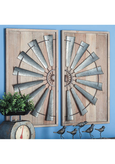 Wooden Wall Panel  - Set of 2