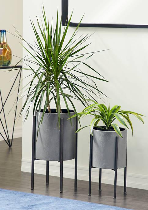 Set of 2 Metal Planters