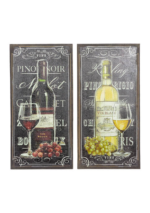20 in x 39 in Extra Large Wooden Wine Bottle on Burlap Wall Décor