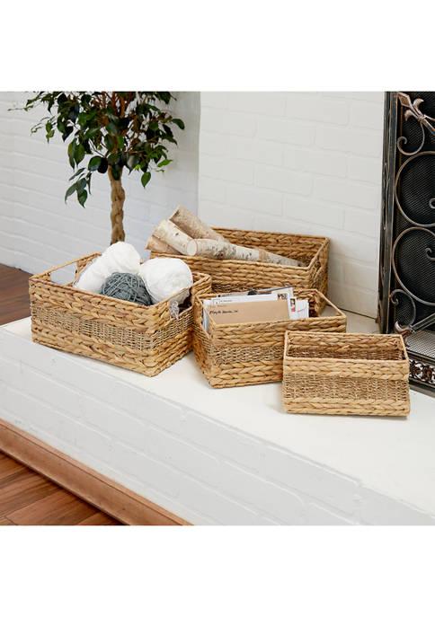 Monroe Lane Set of 4 Seagrass Baskets