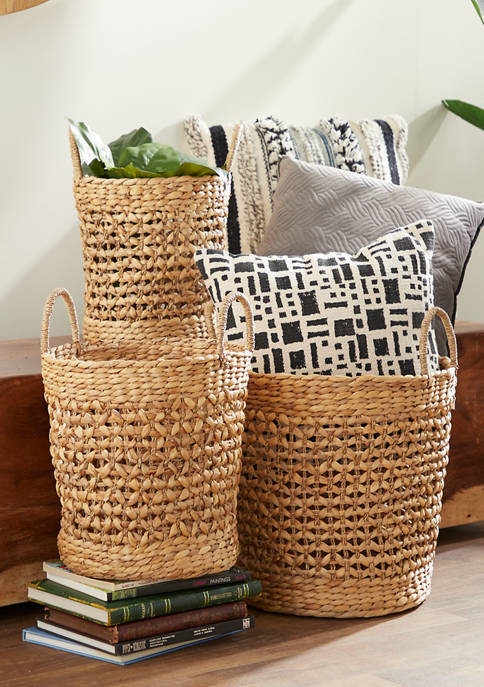 Monroe Lane Bucket Seagrass Baskets with Handles