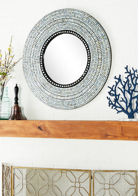 Modern Mother of Pearl Mosaic Wall Mirror