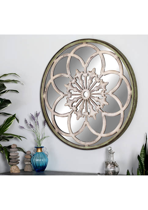 Monroe Lane Traditional Carved Wood Mirror Wall Décor