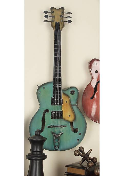 Monroe Lane Metal Electric Guitar Wall Décor