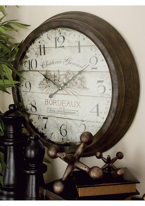 Monroe Lane Metal Wall Clock