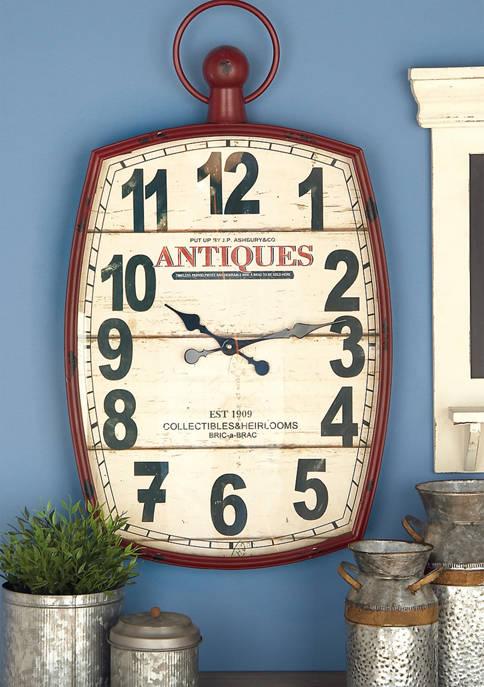 Monroe Lane Metal Wooden Wall Clock