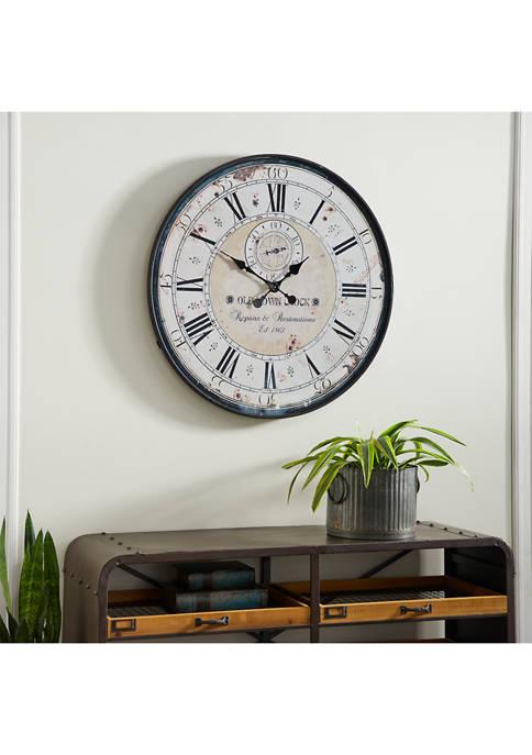 Monroe Lane Rustic Wall Clock With Roman Numbers