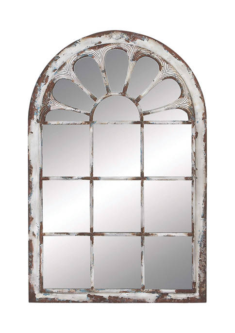 Monroe Lane Multi Colored Arched Window Framed Wall