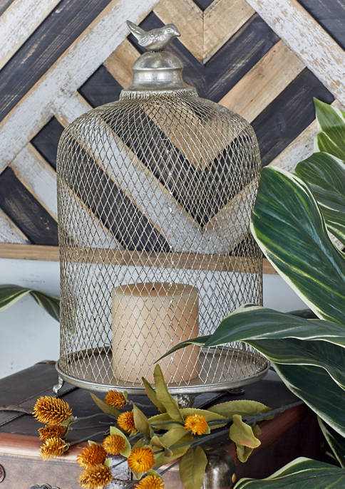Traditional Caged Candle Lantern - Set of 2