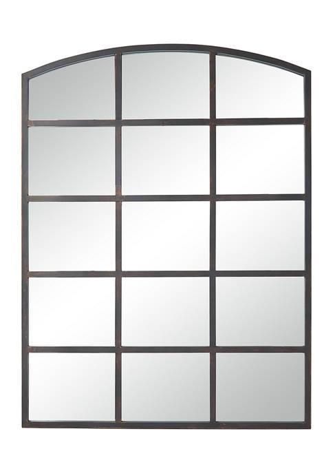 Monroe Lane Industrial Metal Window Pane Wall Mirror
