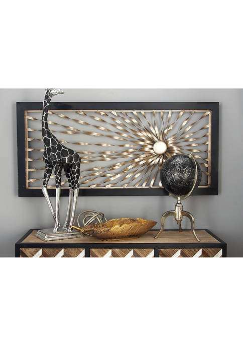 Monroe Lane Contemporary Twisted Starburst Iron Wall Décor