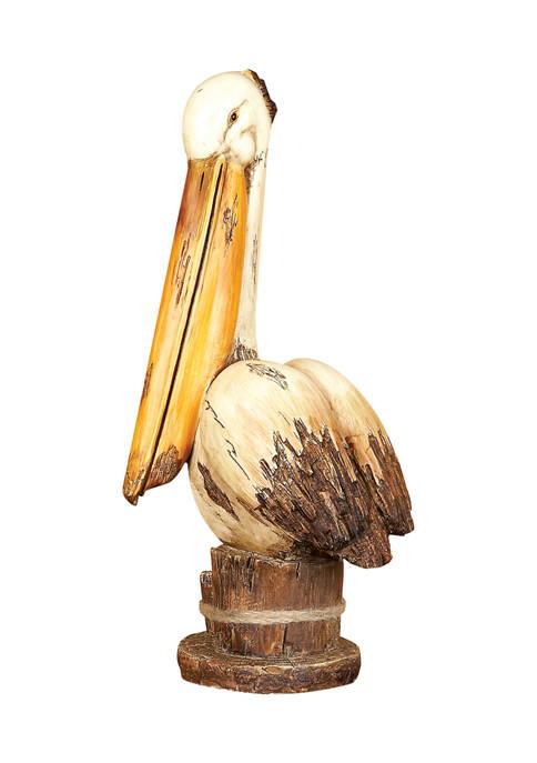 Monroe Lane Cream Polystone Coastal Bird Sculpture
