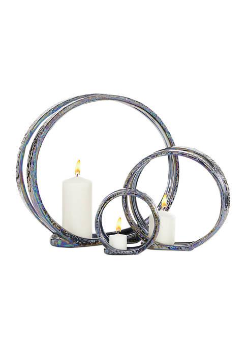 Monroe Lane Ceramic Glam Candle Holder Set of