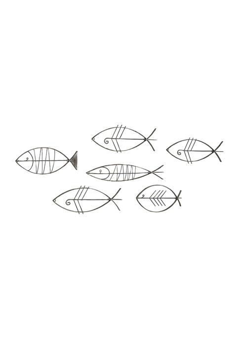 Monroe Lane Set of 6 Industrial Metal Fish