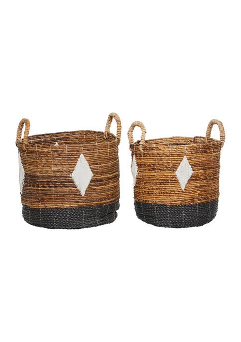 Monroe Lane Banana Leaf Natural Storage Basket