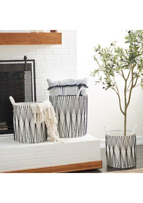 Monroe Lane Plastic Natural Storage Basket