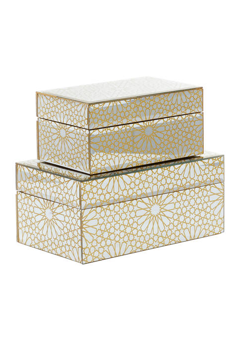 Monroe Lane Gold Wood Glam Box