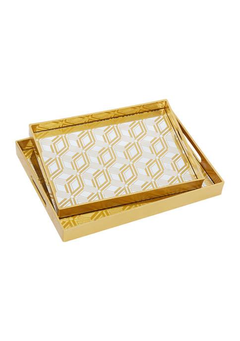 Monroe Lane Gold Plastic Glam Tray