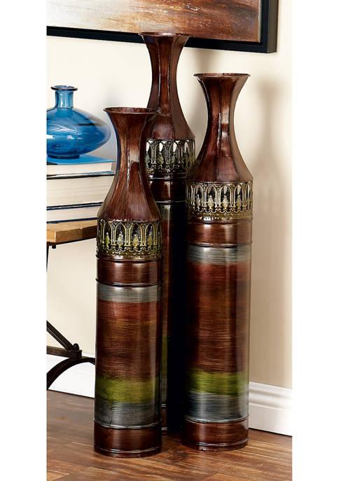 Monroe Lane Fluted Neck Cylinder Vases