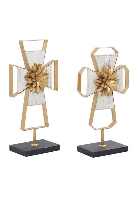 Monroe Lane Set of 2 Metal Contemporary Sculptures