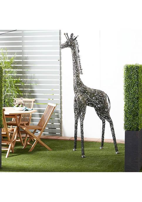 Metal Giraffe Scuplture