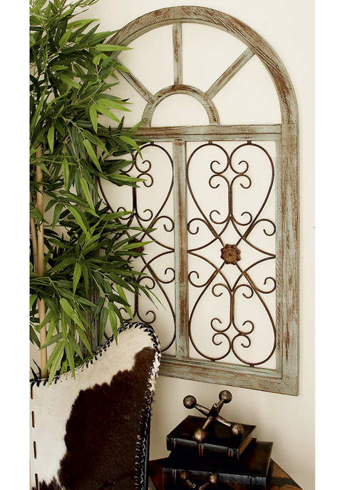 Monroe Lane Traditional Wood and Metal Wall Décor