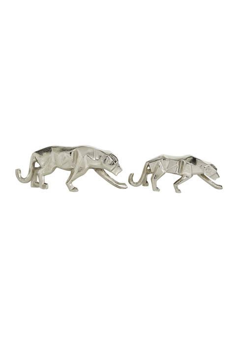 Monroe Lane Set of 2 Aluminum Contemporary Leopard