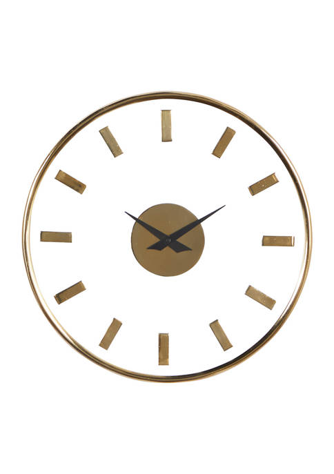Round Aluminum Wall Clock With Transparent Face