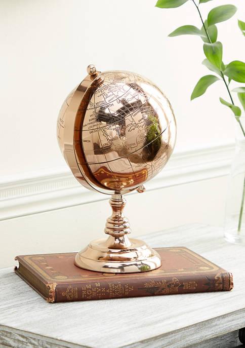 Rose Gold Aluminum Traditional Globe