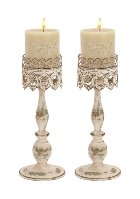 Monroe Lane Iron Rustic Candle Holder Set of