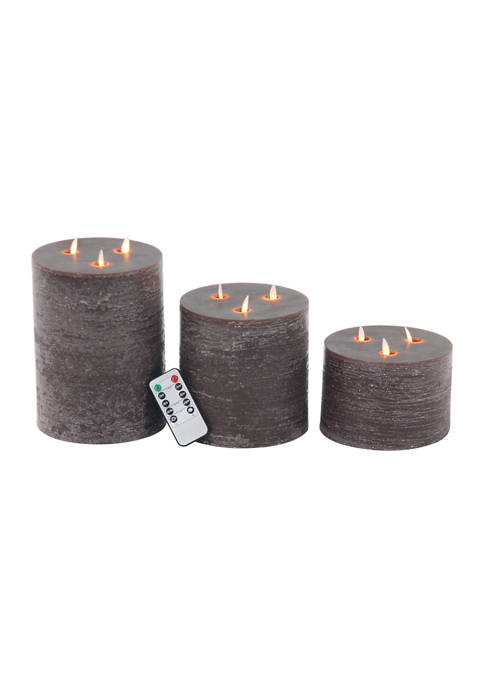 Led Flicker Candle  - Set of 3
