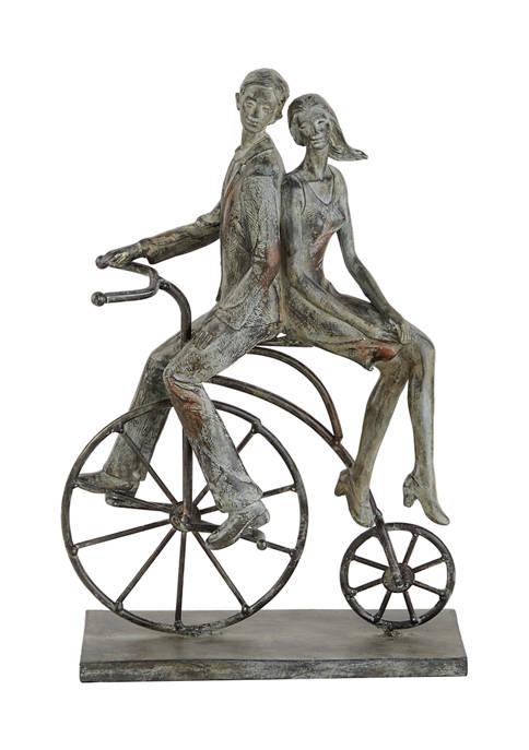 Monroe Lane Polystone Traditional Bicycle Sculpture