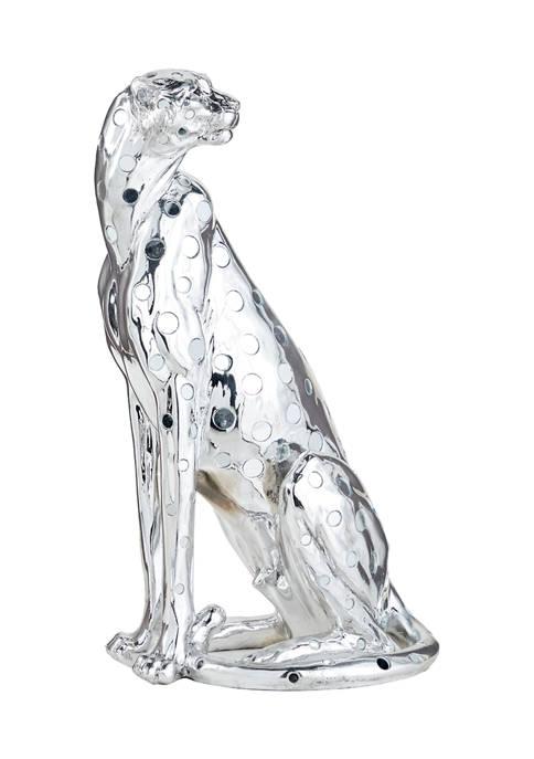 Monroe Lane Polystone Eclectic Leopard Sculpture