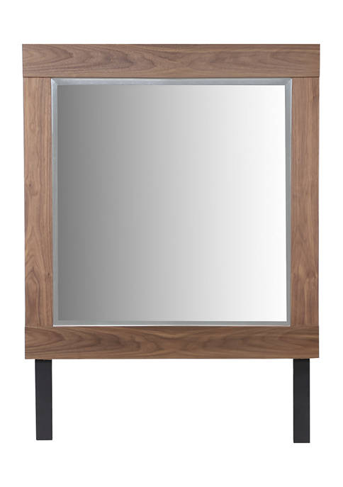 42 in x 57 in Contemporary Large Square Natural Wood Dresser Mirror