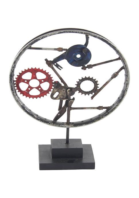 Monroe Lane Metal Industrial Wheel Sculpture
