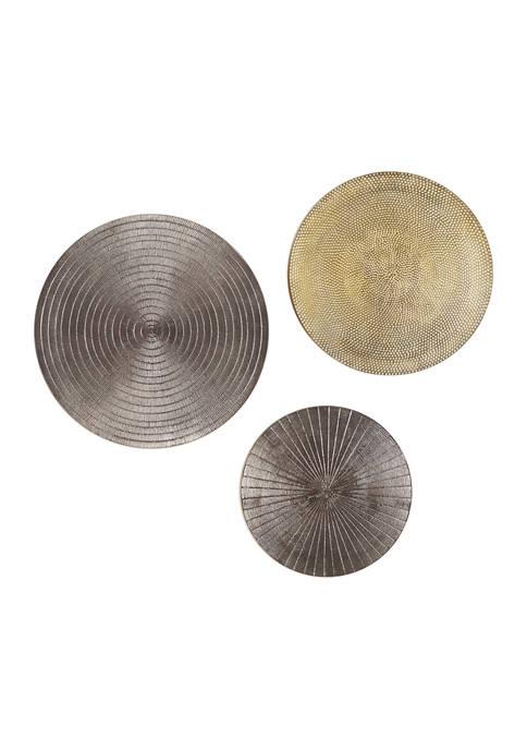 Monroe Lane Metallic Silver and Gold Round Metal